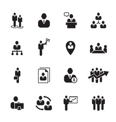 icon businessman vector image