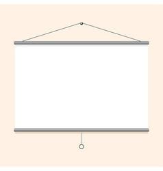Portable projector screen vector image vector image