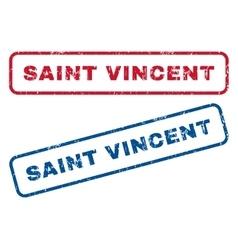 Saint vincent rubber stamps vector