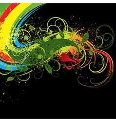 vivid floral background vector image vector image