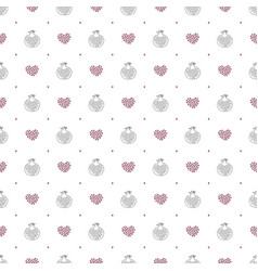 abstract pomegranate and stylized hearts pattern vector image vector image
