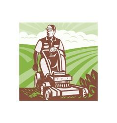 Gardener Landscaper vector image