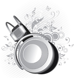 headphones on a background vector image vector image