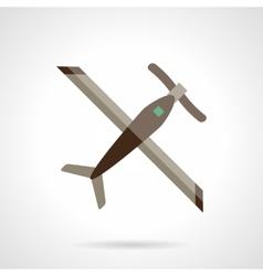 RC plane flat color design icon vector image