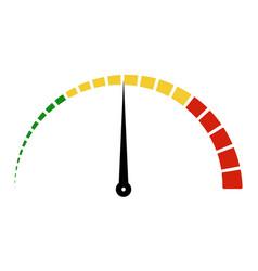 speed metering icon scale meter broken sectors vector image