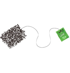 teabag made from tea leaf concept vector image vector image