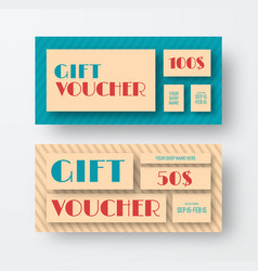 vintage gift voucher design vector image