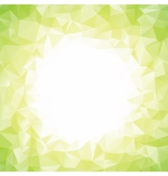 Abstract colorful light green polygon around white vector
