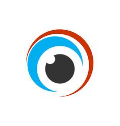 abstract eye lens logo icon design vector image