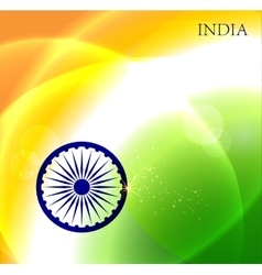 Abstract image of Indian flag holiday people vector