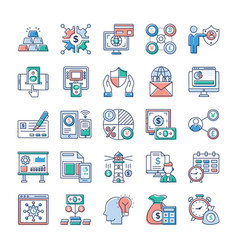 analytics and investment flat pack vector image