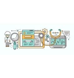 Analytics Statistics SEO Video Marketing Concept vector image