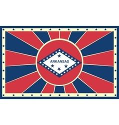 Arkansas state sun rays banner vector