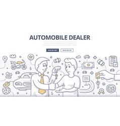 Auto Dealer Doodle Concept vector