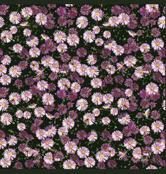 autumn flowers pattern vector image