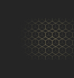 black and gold geometric web page size background vector image