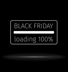 black friday background progress loading bar vector image