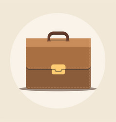 briefcase flat icon with long shadow vector image