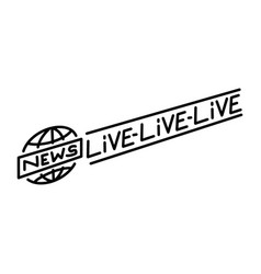 Broadcast banner icon doodle hand drawn vector
