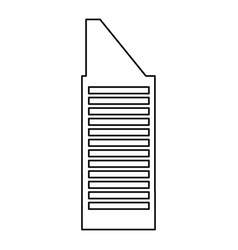 Cartoon building high tower apartment commercial vector