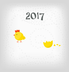 Chicken hatched from the egg vector