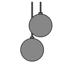 christmas balls hanging decoration elegance vector image