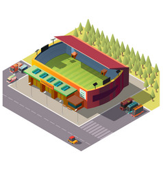 city public stadium building isometric vector image