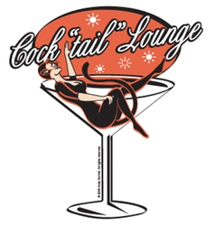 Cocktail lounge vector