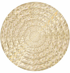 Concentric beige circles in mosaic vector