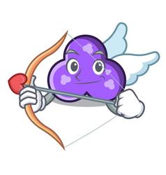 Cupid trefoil character cartoon style vector