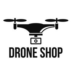 drone shop logo simple style vector image