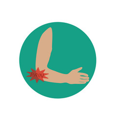 elbow pain vector image