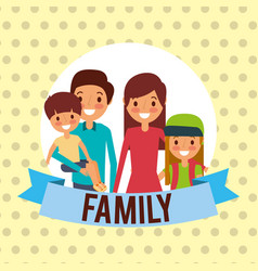 family together characters vector image