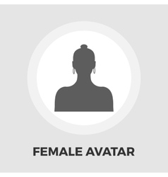 Female avatar flat icon vector image