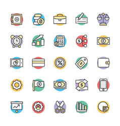 Finance Cool Icons 4 vector