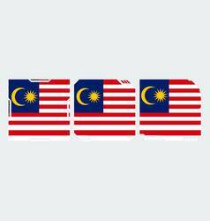 Flag malaysia vector
