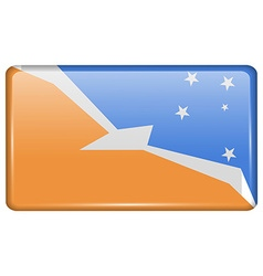 Flags Tierra del Fuego Province in the form of a vector