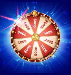 fortune wheel poster spinning lucky vector image