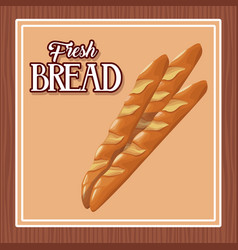 fresh bread and wheat whole cereal nutrition vector image