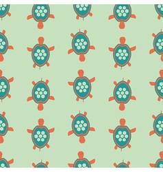 Funny turtle pattern vector image