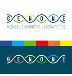 Genome logo white vector image
