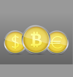golden money coin vector image