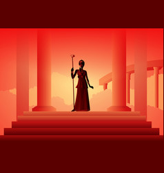 Greek gods and goddess hera vector