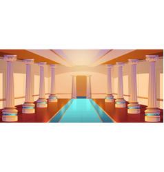 Greek temple roman architecture castle corridor vector