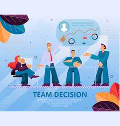 group people makes an important team decision vector image