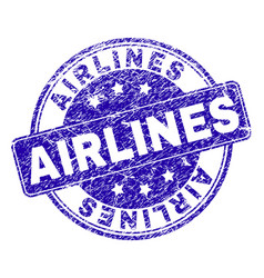 Grunge textured airlines stamp seal vector