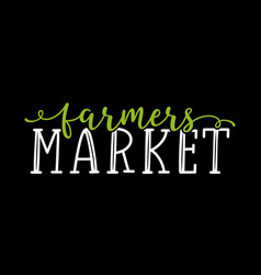 Hand sketched farmers market quoteas banner vector