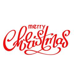 hand written lettering merry christmas vector image