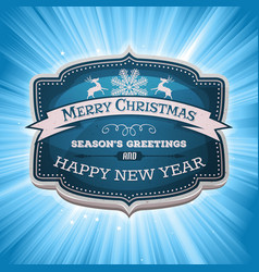 Happy new year and merry christmas banner vector