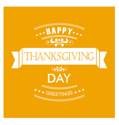 happy thanks giving day design vector image